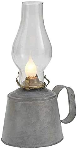 Park Designs Small Galvanized Oil Lamp with Globe