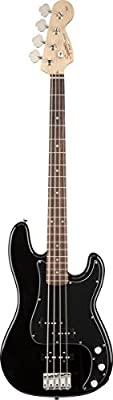 Squier Affinity P/J Bass Guitar, Rosewood Fingerboard, Olympic White from Squier by Fender