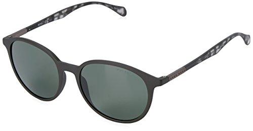 BOSS by Hugo Boss Men's B0822s Round Sunglasses, Black Gray Havana/Green Polarized, 53 - Glasses Boss Hugo Round