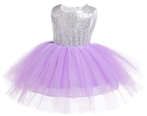 Kokowaii Fancy Toddler Baby Girls Sequin Tutu Dress Girls Pageant Party Dress Flower Girls Dress -