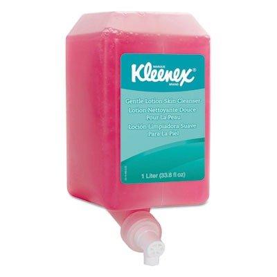 kleenex-gentle-lotion-foaming-skin-cleanser-91556-floral-pink-10-l-6-packages-case