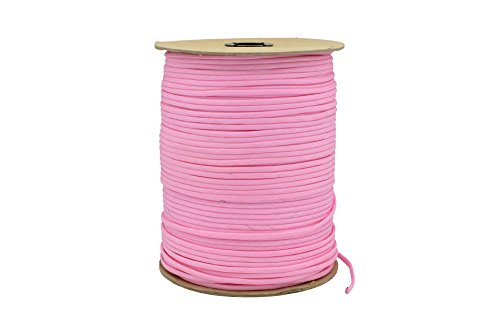 Paracord Rope 550 Type III Paracord - Parachute Cord - 550lb Tensile Strength - 100% Nylon - Made In The USA (Rose Pink, 1000 Feet) by Paracord Rope (Image #2)