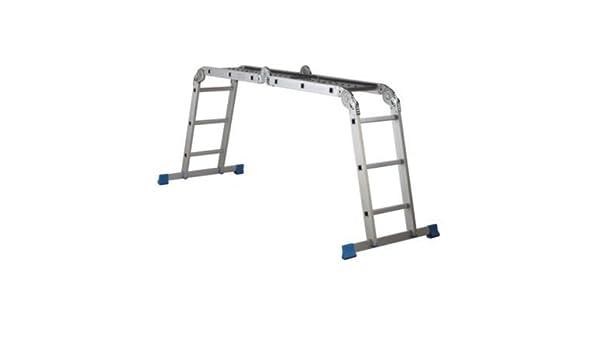 Mac Allister – Escalera plegable de aluminio con plataforma, (H) 3.72 m: Amazon.es: Bricolaje y herramientas