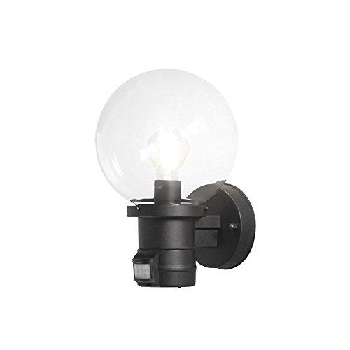 Aplique exterior negra liliputio detector movimiento IP44: Amazon.es: Iluminación