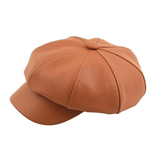 Ladies Fedora Hat Furry (XOWRTE Women's Adjustable Leather PU Baseball Cap Hat)