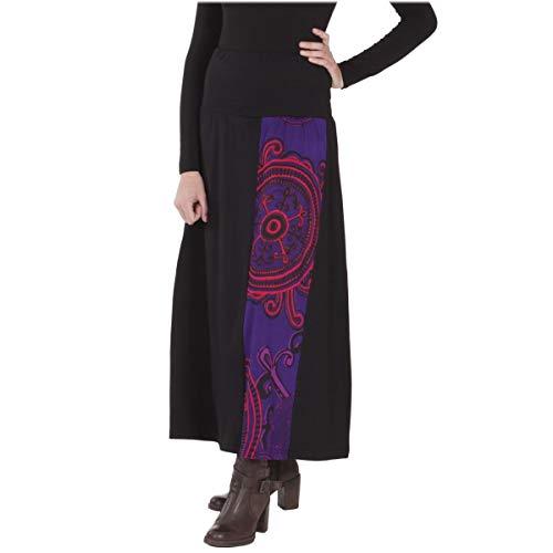 de Violet Jersey Unie MOON L Longue XL Jupe ORANGE Coton Noir LE Imprime Femme xwv8qTnX4z