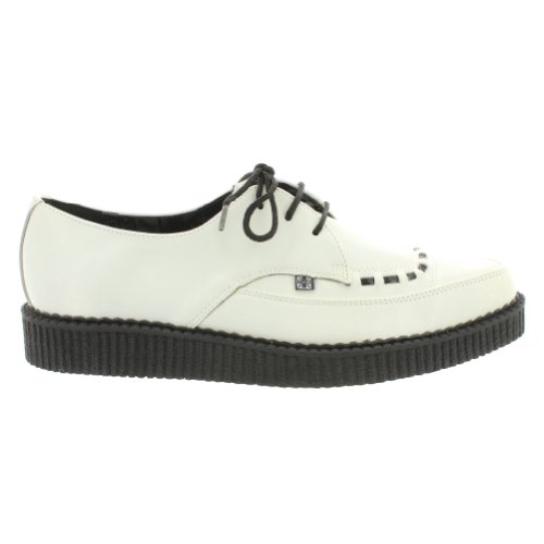 T.U.K. Creeper LOW POINTED TOE A8468 white White