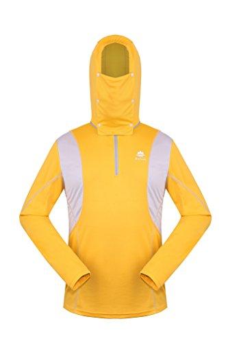 公椅子原子炉HYSENM 日よけシャツ フィッシングジャケット 速乾シャツ マスクや帽子取り外し可能 紫外線カット 多機能 COOLPASS 丈夫 吸湿速乾 肌触り良い お釣り ハイキング キャンピング メンズ