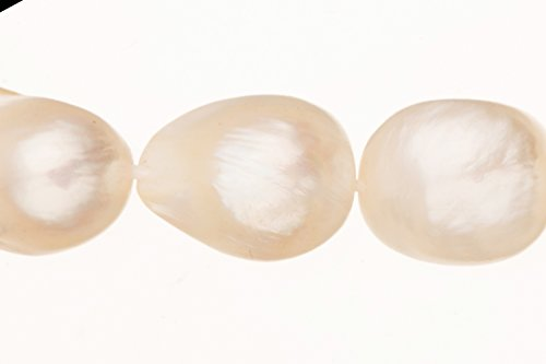 Shaped Pearl Baroque (White Freshwater Cultured Pearls Natural Baroque, C+ Graded, 10x7x12mm (Approx.), 15.5Inch Strings/33Pearls)
