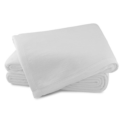 Sferra Luxury Plush Blanket - King - 100% Cotton, Made in Portugal Exclusively for Sferra Fine -