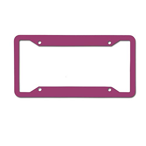 GqutiyulUCOOL Decorative License Plate Frame, Cool Car Tag Frame Novelty License Plate Frame 4 Holes - Deep Baton Rouge Red Solid Colour