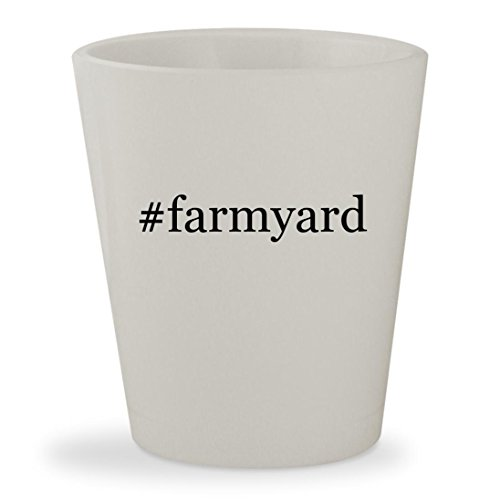 #farmyard - White Hashtag Ceramic 1.5oz Shot - Funky Mat Farmyard Activity