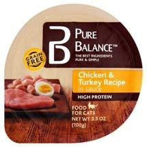 Balance Dinner - 6 cans of Pure Balance Grain-Free Chicken & Turkey Dinner Wet Cat Food, 3 Oz.ea