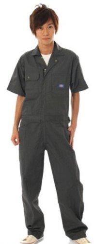 Dickies (ディッキーズ) 半袖つなぎ ストライプ TK713 B008H1U2UW LL|(BC)ブラック