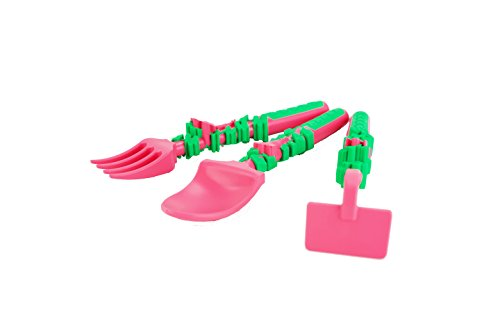 Constructive Eating Set of Garden Utensils for Toddlers, Infants, Babies and Kids - Flatware Toys are Made with FDA Approved Materials for Safe and Fun Eating by Constructive Eating