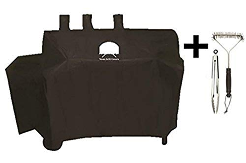 - Texas Grill Covers for Char-Griller 8080 and Duo 5050 Gas-and-Charcoal Grill Including Brush and Tongs
