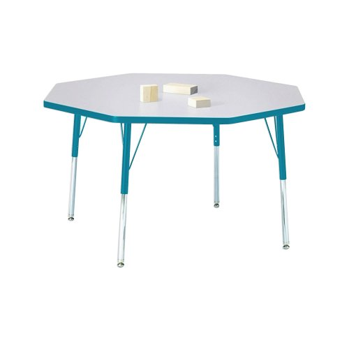Kydz Activity Table - Octagon Gray/teal/48
