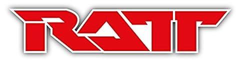 RATT Logo Car Bumper Sticker Decal 8'' x 2'' - 2 Decal Bumper Sticker