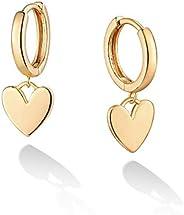 Huggie Hoop Earrings Eye Earrings Gold Heart/Leaf/Ball/Evil Eye Earrings Charm Hoop Earrings for Women CZ Hoop