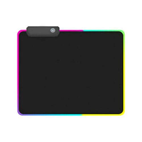 (Halfbye RGB Large Colorful LED Lighting Keyboard Mat, Non-Slip Mousepad Soft Mouse Pad Rectangle Non-Slip Rubber Mousepad for Computer PC Gaming Home Decor Gift Decoration for Women and Men (S))