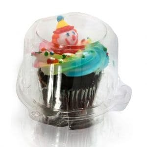Clear Cupcake Muffin Single Individual Dome Container Box Plastic 25 (Cupcake Container)
