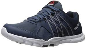 Reebok Men's Yourflex Train 8.0 L Mt Cross-Trainer Shoe, Royal Slate/Collegiate Navy/White, 9.5 M US