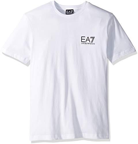 e91a18115 Emporio Armani EA7 Men's Train Logo Series Crew Neck Tee, White, Small