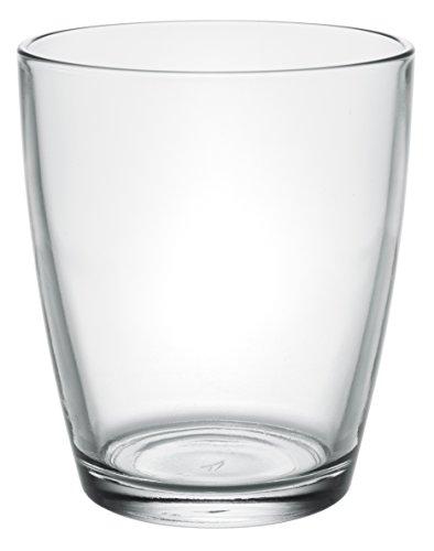 Vega Modern Clear Glass Short Iced Tea Cups, Drinking Glasses Water Juice Soda Beverage Tumblers, Set of 6, 11 fl oz