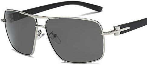 CDKET メンズスクエアファッションサングラス、偏光、クラシックレトロ、ドライバーメガネ、UVカット CDKET (Style : 1)
