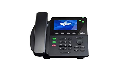 Digium D62 IP Phone 2-Line SIP with HD Voice, Gigabit, 4.3 Inch Color Display, Icon Keys ()