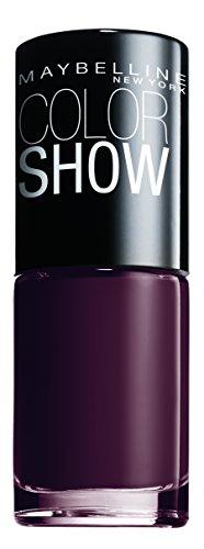 Maybelline New York Make-Up Nailpolish Color Show Nagellack Burgundy Kiss / Ultra glänzender Farblack in sattem Weinrot, 1 x 7 ml