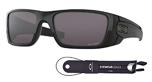 Oakley Fuel Cell OO9096 9096K2 60M Polished Black/Prizm Grey Sunglasses For Men+BUNDLE with Oakley Accessory Leash Kit (Schwarz Oakley Fuel Cell Sonnenbrille)