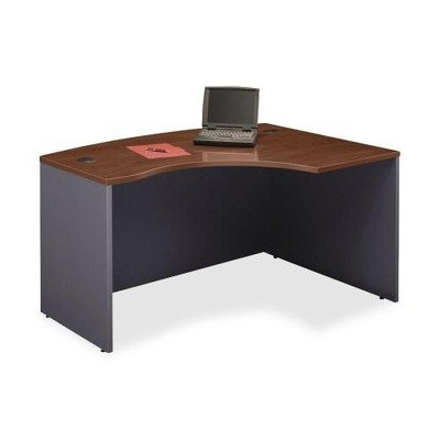 Bush Business Furniture Series C Collection 60W x 43D Right Hand L-Bow Desk Shell in Hansen Cherry (Right L-bow Desk)