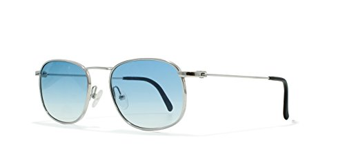 Burberrys B8828 YB7 Silver Flat Lens Vintage Sunglasses Round For - Burberry Sunglasses Vintage