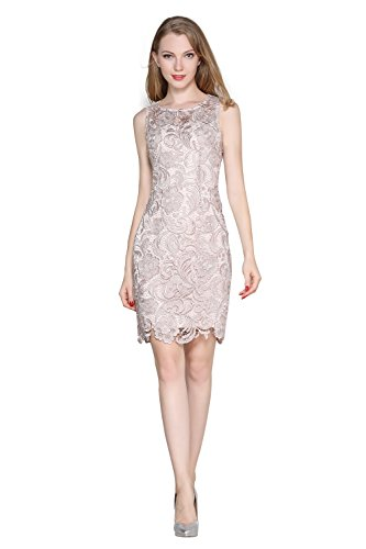 beige lace summer dress - 2
