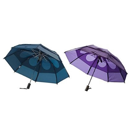 Gustbuster Metro Wind Resistant Umbrellas 2 Pack Bundle (Navy and Light Purple) by GustBuster (Image #2)