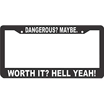 Front and Rear Tag Frame 12 x 6 inch for Women//Man Invinciblefrme Custom License Plate Frame Holder