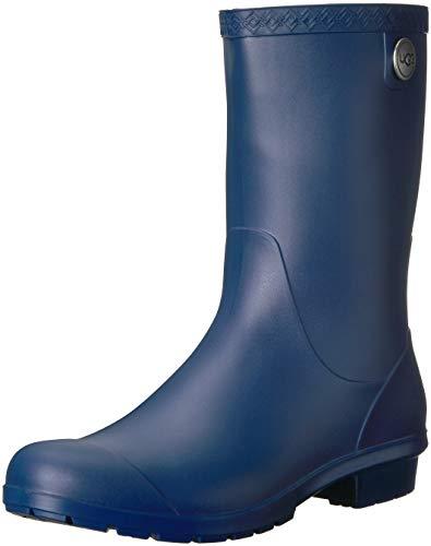 UGG Women's Sienna Matte Rain Boot, blue jay, 10 M US (Top Boots Ugg)
