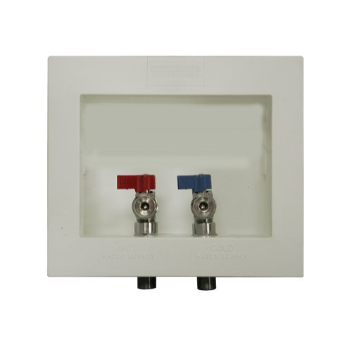 PlumBest B05900 Washing Machine Box With Valves and Offset Drain