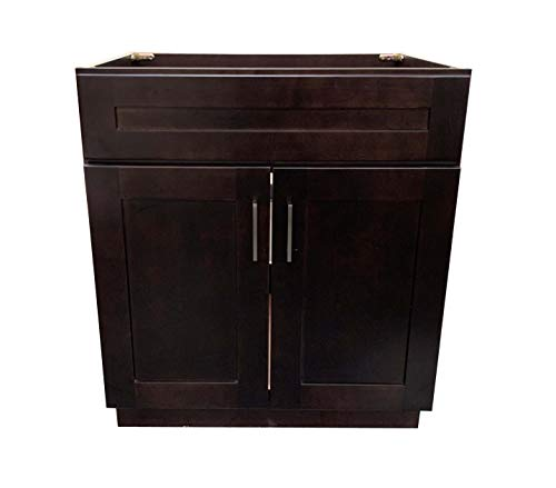 (New ESPRESSO SHAKER Single Bathroom Vanity Base Cabinet 24