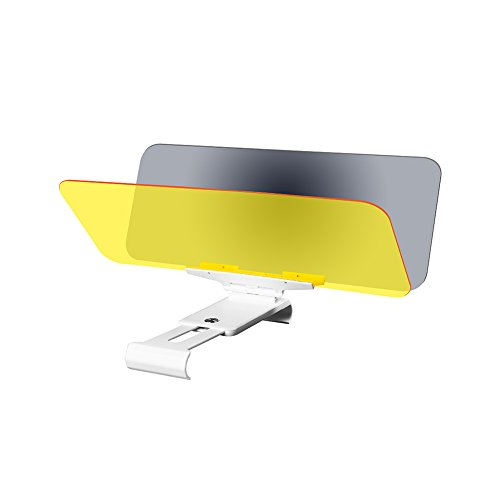 Huluwa Car Sun Visor Anti-Glare Windshield Visor Anti-Dazzle Sunshade for Day and Night Driving, Protects against Sun Rays, Headlights, Tailgates, Blue Light, with Adjustment Button, New Version
