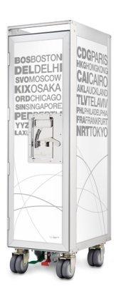 Bordbar Trolley silver edition New - airports white - Leer ohne Zubehör