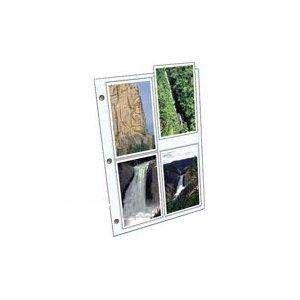 Clear File 4x6 Archival Plus Print Page/100 pk #360100B