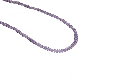 - Amethyst Faceted Rondelle Purple Beads Gemstone 4.5 to 5.5mm AA Necklace
