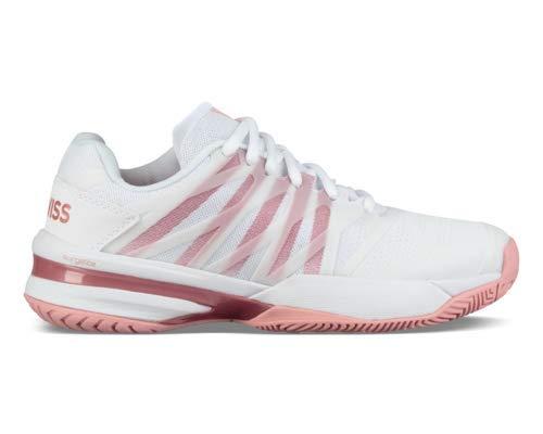 (K-Swiss Women's Ultrashot 2 Tennis Shoe, White/Coral Blush (Size 8 M US))