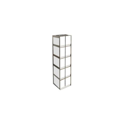 Alkali Scientific CFLB-5 Stainless Steel Vertical Chest Freezer Rack for 15ml and 50ml Tube Boxes, 18-1/4