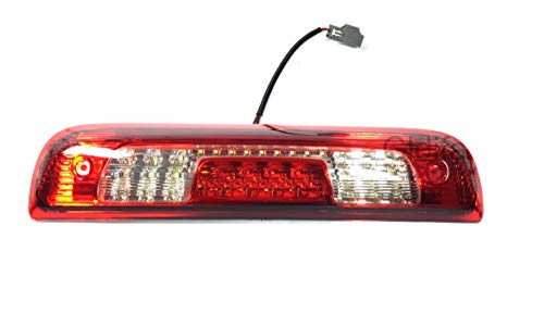 Gldifa 3rd Brake Lights Fit 15-18 Silverado/Sierra 1500/2500/3500 LED Red And Clear Lens Third Brake Lights Lamp