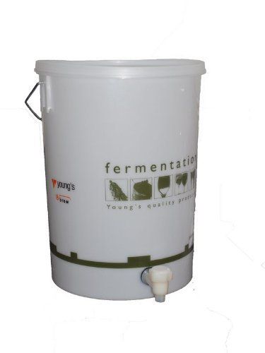 25 Litre Wine and Beer Making Bucket Drilled with Lid and Tap by Youngs