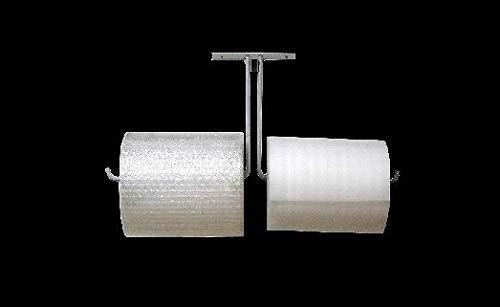 36'' Double Arm Wall Mount Roll Dispenser Bubble Wrap & Foam Cushioning #FP01