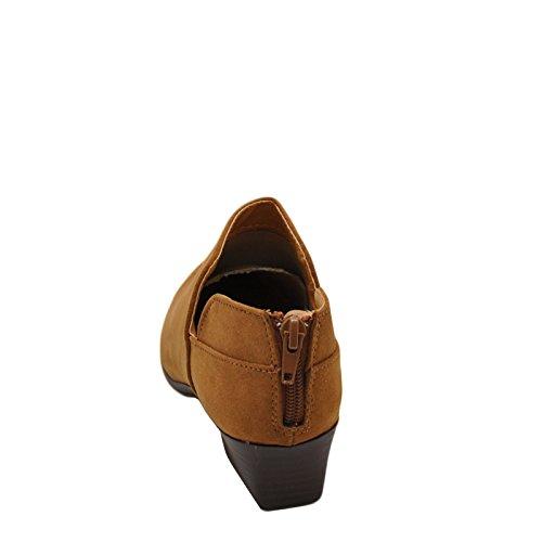 Ankle Bootie Qupid 07 Muni Pointed Shoes Toe Women's Maple Muni 07 Qupid vxzqII